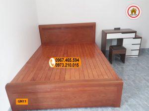giường ngủ gỗ xoan đào GN11
