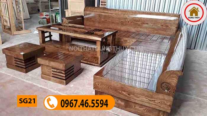 mẫu ghế sofa gỗ đẹp SG21