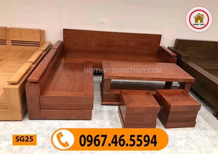 sofa gỗ phòng khách hiện đại SG25