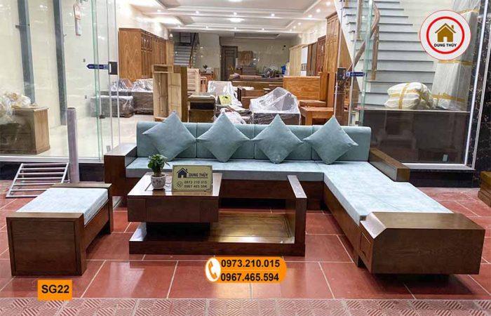 Bộ ghế sofa hộp ngăn kéo vát gỗ sồi Nga SG22