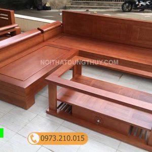 Bộ ghế sofa tay nghiêng gỗ sồi Nga SG23