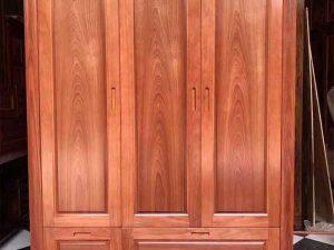 Tủ đựng quần áo gỗ xoan đào 3 buồng TG05