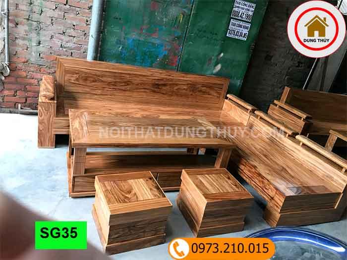 Bộ ghế sofa góc hương xám đá SG35