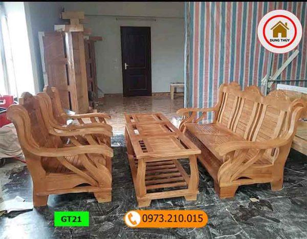 Bộ ghế thiên nga gỗ sồi Nga GT21