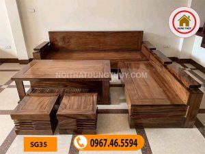 ghế sofa góc phòng khách dài 2m4 SG35