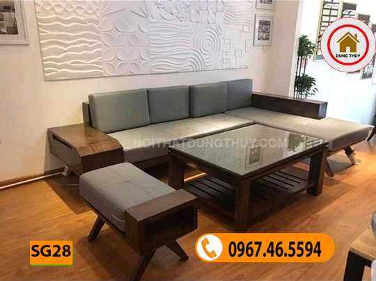 ghế sofa gỗ phòng khách cao cấp SG28