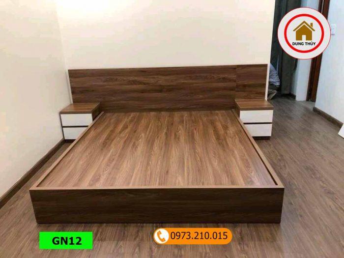 Giường ngủ gỗ công nghiệp kiểu bệt GN12