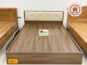 Giường ngủ kiểu bệt 2 ngăn kéo gỗ công nghiệp GN12