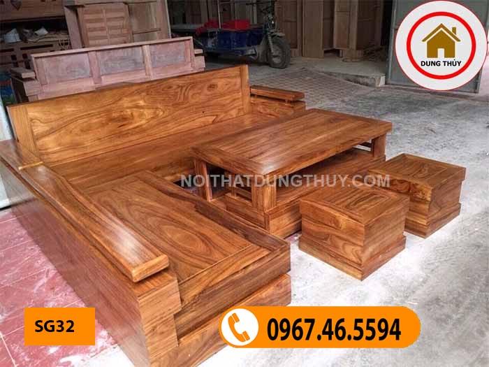 mẫu sofa gỗ tự nhiên cao cấp SG32