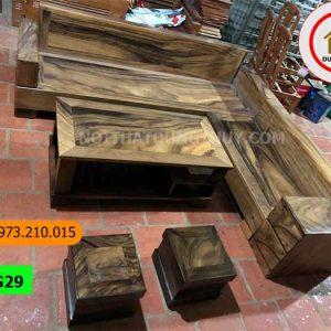 Bộ ghế sofa hộp 2 ngăn kéo gỗ me tây SG29