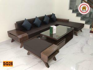 Bộ ghế sofa hộp chân oải gỗ sồi Nga SG28
