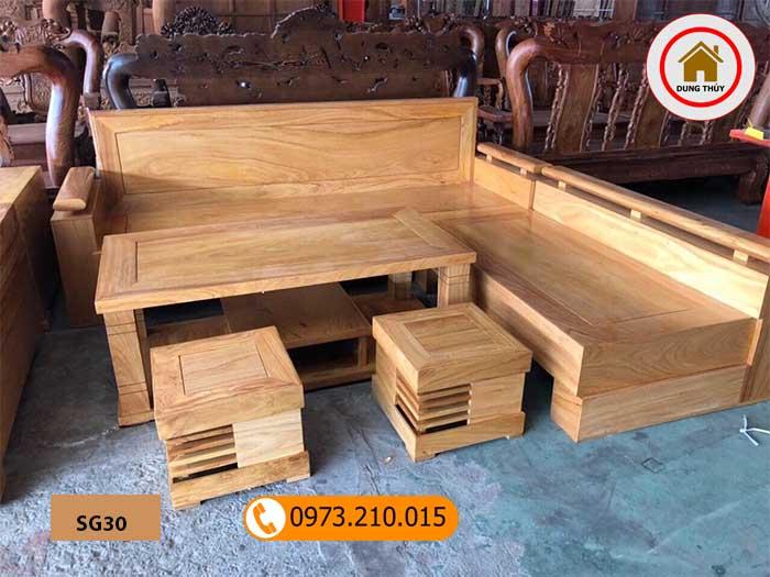 Bộ ghế sofa tay trứng gỗ gõ đỏ SG30