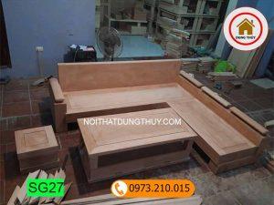 Bộ ghế sofa góc trứng gỗ đinh hương SG27