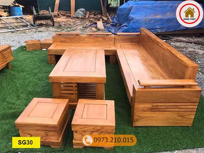 Chốt mua bàn ghế sofa gỗ ở đâu tốt tại quận Long Biên?