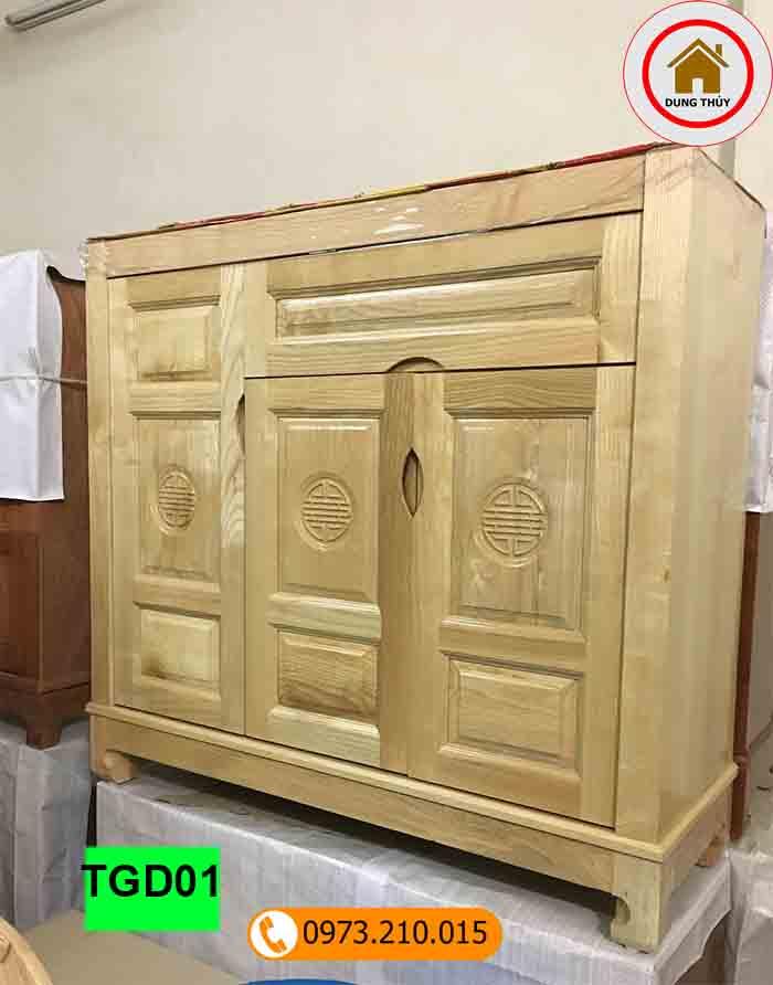 Tủ giầy dép gỗ công nghiệp 3 cánh TGD01