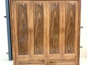 tủ gỗ quần áo 4 cánh gỗ hương xám TG06