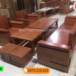 Bộ ghế đối tay nghiêng gỗ xoan đào GT26