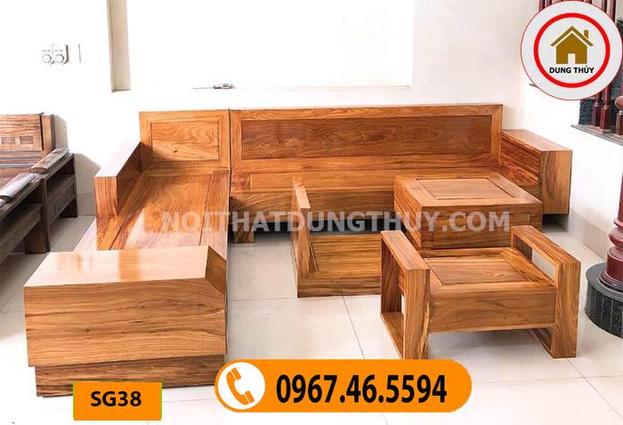 bàn ghế gỗ phòng khách hiện đại SG38
