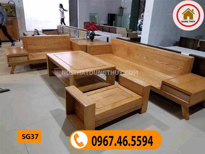 bàn ghế phòng khách gỗ tự nhiên SG37
