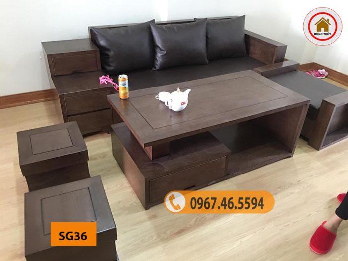 ghế sofa gỗ tự nhiên giá rẻ SG36