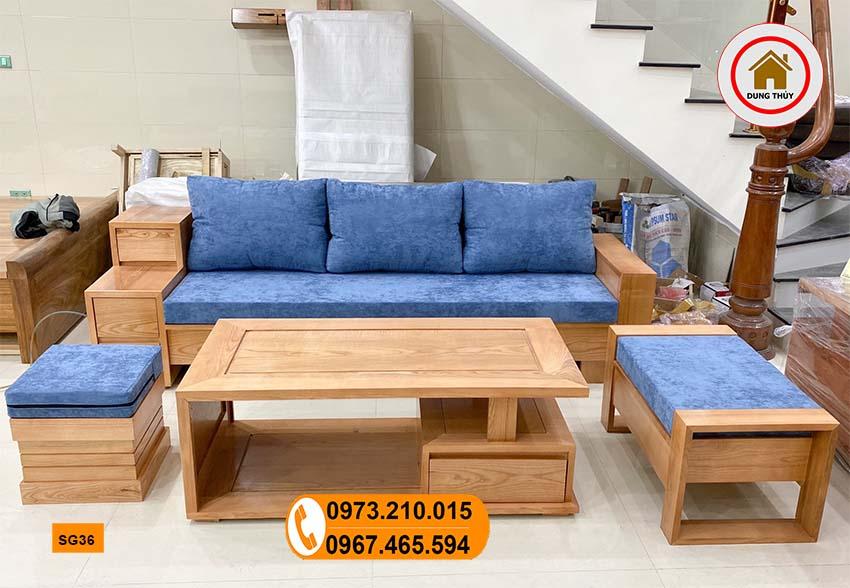 ghế sofa 3 ngăn kéo gỗ sồi Nga SG36