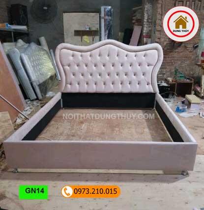 Giường ngủ gỗ công nghiệp kiểu phương Tây GN14