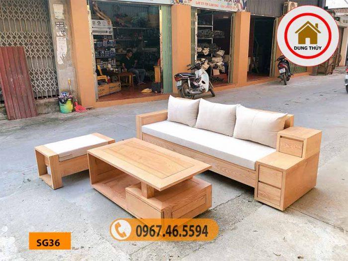 sofa gỗ cho phòng khách nhỏ SG36
