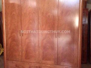 Tủ đựng quần áo 4 cánh 2 buồng gỗ xoan đào TG07