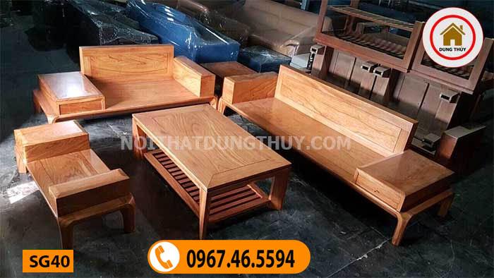 bộ bàn ghế gỗ phong cách hiện đại SG40