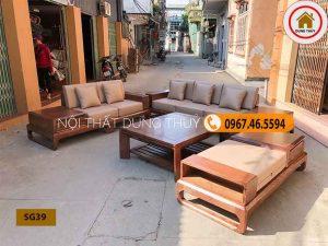 bộ ghế sofa gỗ tự nhiên cao cấp SG39