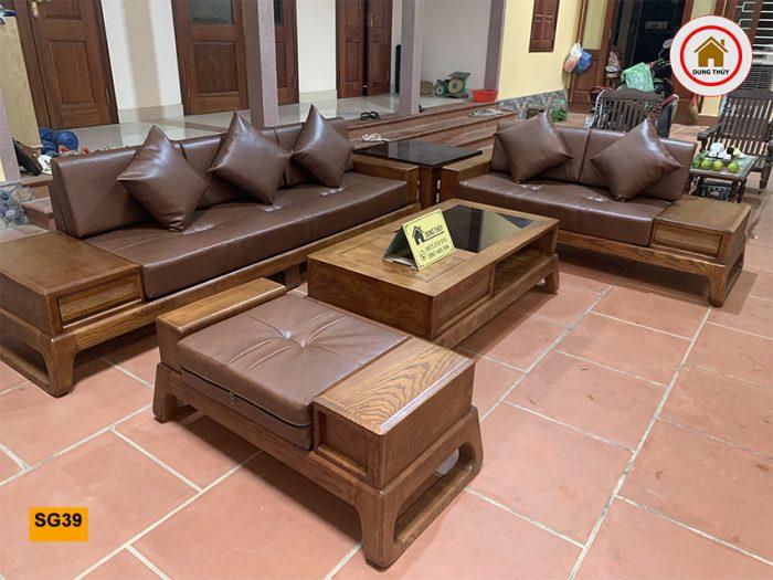 bộ sofa 2 văng chân quỳ SG39 tốt