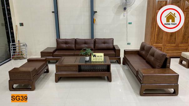 bộ bàn ghế sofa 2 văng chân quỳ SG39