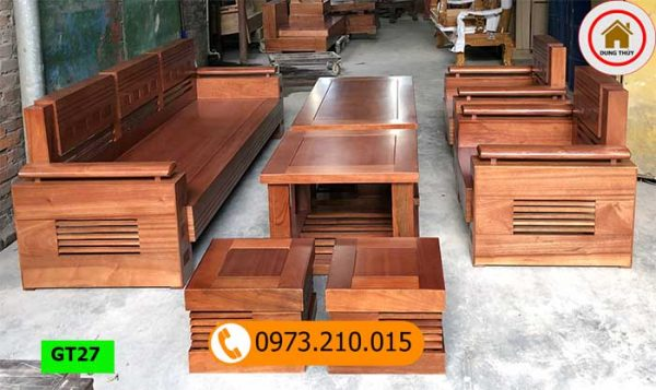 Bộ ghế đối tay trứng gỗ xoan đào GT27