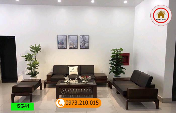 Bộ ghế sofa 2 văng chân oải gỗ sồi Nga SG41