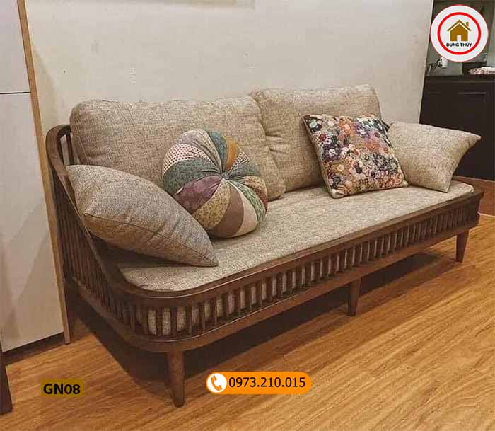 bàn ghế gỗ cho phòng khách nhỏ gọn