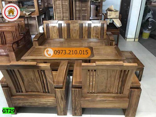 Bộ ghế đối tay 14 gỗ hương xám GT29