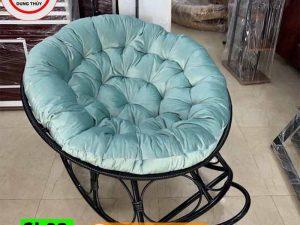 Ghế salon thư giãn bập bênh hình tròn gỗ mây SL02