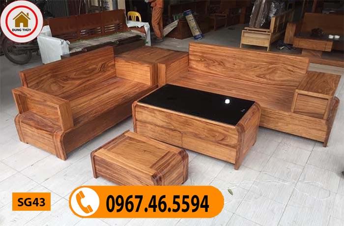 mẫu bàn ghế gỗ phòng khách đẹp SG43