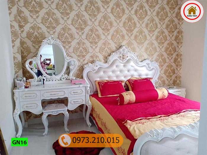 Giường ngủ cung điện gỗ công nghiệp GN16