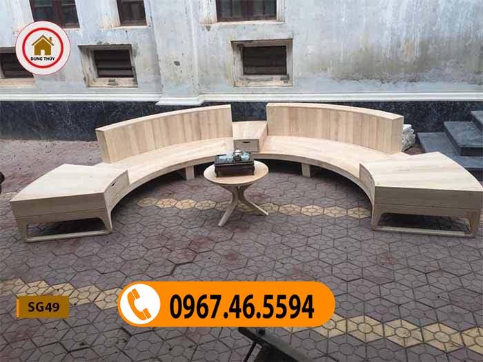 bàn ghế gỗ phòng khách đẹp hiện đại SG49