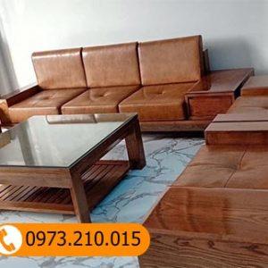 Bộ ghế sofa góc chữ U gỗ sồi Nga SG48