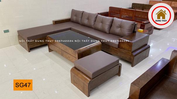bộ ghế sofa chân cuốn SG47