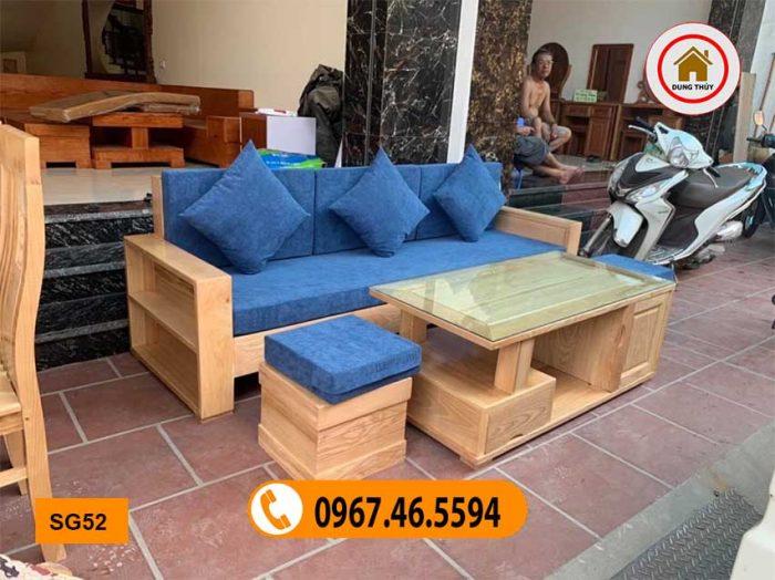 sofa nhỏ gọn 1 văng 1 bàn vuông SG52