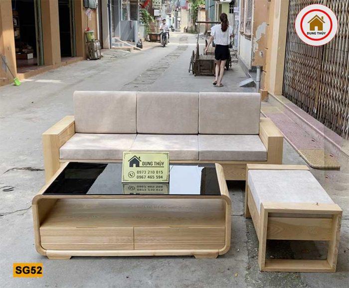 sofa văng gỗ sồi Nga SG52
