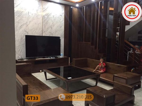 Bộ ghế đối chân quỳ gỗ sồi Nga GT33