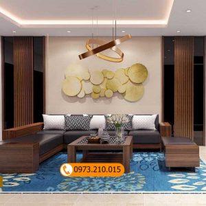 Bộ bàn ghế sofa 2 tay gỗ hương xám SG58