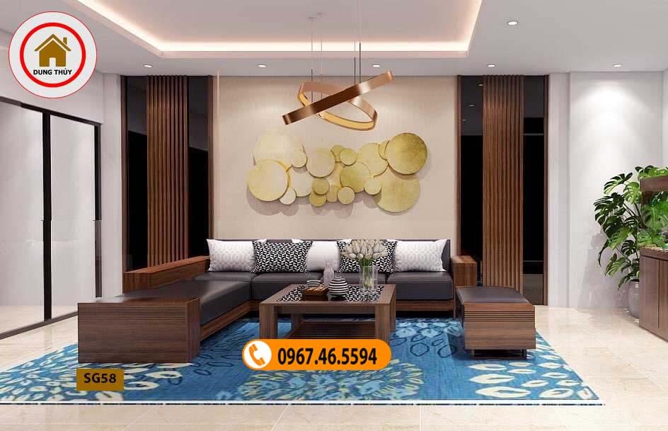 bàn ghế gỗ phòng khách cao cấp SG58