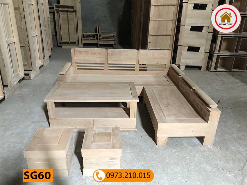 Bộ ghế góc trứng gỗ bích SG60