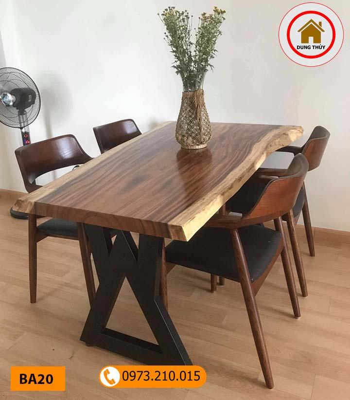 Top 5 mẫu bàn ăn gỗ tự nhiên mini 2002