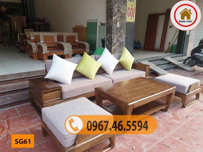 bàn ghế sofa gỗ tự nhiên giá rẻ SG61